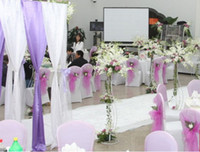 Backdrops Wedding  ORGANZA For background of wedding party banquet decoration 110 meters roll 24 colors For U Pick