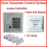 Wholesale Freeshipping Access Control System with Door Exit Push Button Switch rfid ID card