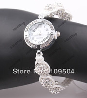 Unisex ball wrist watch - New Shamballa Bracelet Watches Crystal Disco Ball Beads Wrist Watch Clear White Silver color Nice Gift PC