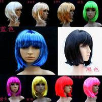 Wholesale Colorful Lady Performance Wig Party Carnival Cosplay Props Wig for Xmas Hallowmas