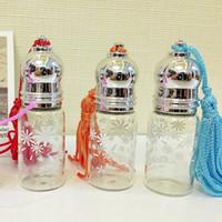 Glass beauty spray bottle - 5ml Glass Perfume Bottle with Tassel Lids Roller Fragrance Deodorant Container Refillable Perfume Bottle Spray Beauty Tools DC401