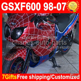 Wholesale Free windscreen For SUZUKI Spider Man KATANA GSX600F red CMF1454 GSX F GSXF600 GSXF Fairings Kit