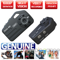 Wholesale T9000 New HD P Night Vision Mini Spy Camcorder Thumb DV Camera vibration function Recorder