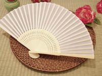 Wedding bamboo fabric - Plain solid color fabric Bamboo silk Fan Folding handfan Hand fan Wedding Favor party gift color u pick H110w