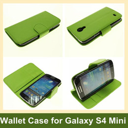 Wholesale Luxury Wallet Case for Galaxy S4 Mini i9190 PU Leather Flip Cover Case for Samsung Galaxy S4 Mini i9190 Free Shipping