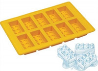 Wholesale 100 Food Grade handmade Minifigure silicone ice cube Tray Brick Block mold chocolate cake pudding jelly dessert mold mould