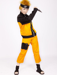 Wholesale Naruto Shippuden Uzumaki Hokage Cosplay Costume dress u8 a