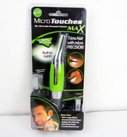 Wholesale NEW electric MICRO TOUCHES TOUCH MAX PERSONAL HAIR TRIMMER NOSE EAR Sundepil EYEBROW SIDEBURNS
