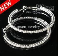 White big crystal hoops - Silvertone Big Circle lady s Basketball Wives Hoop Earrings With Crystal Rhinestone Dangle Earring
