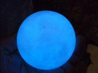 Wholesale Natural Blue Glow White Jade Stone Glow In The Dark Stone Ball China MM