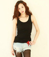 Wholesale Summer hot selling women cotton rib knitting women s tank Tops long design lady Candy colors camis