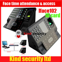 Wholesale ID card function Zksoftware iFace102 Face and Fingerprint biometric time attendance time clock with access control Freeship by DHL