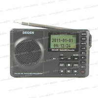 Wholesale FM MW SW GB Portable Intelligent Multifunctional LED STEREO Radio DSP Receiver MP3 Player Bands DEGEN DE1129 A0909A LLY266
