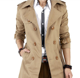 Wholesale 2013 new listing Korean version of the British double breasted men s self cultivation windbreaker coat