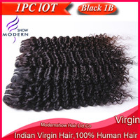 Wholesale Deep Curly Human Hair Weave PC quot quot Unprocessed Kinky Curly Virgin Indian Remy Hair Extensions Machine Weft Natural Black B
