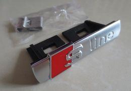 FACTORY SALE New MATT Sline S Line ABS Chrome Grill Emblem 3D Car AUTO Badge Emblems Badges 200pcs