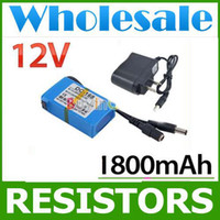 Wholesale lots100 Portable V Li po Super Rechargeable Battery Pack DC for CCTV Camera mAh
