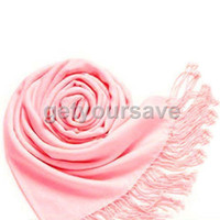 Wholesale 10pcs Light Pink Pashmina Cashmere Silk Solid Shawl Wrap Women s Girls Ladies Scarf Accessories