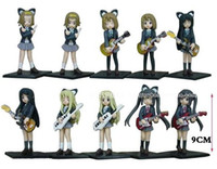 Wholesale 10set K ON figure Set of Cute Anime K ON Mio Akiyama PVC figure toy