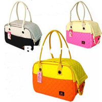 Wholesale dog cat pet worm thick bag carrier potable handbag color HM616