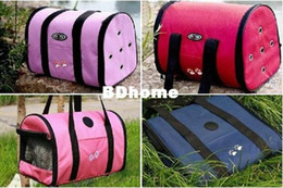 Wholesale Pet Luggage Carrier Dog Bag Cat Bag Handbag Travel Bag With berber Fleece Mat S M L