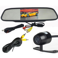 Wholesale Car RearView Reversing System Inch LCD Reverse Mirror Monitor Degree Waterproof Nightvision Backup Camera