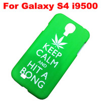 Wholesale 35pcs Keep Calm and Carry On Sexy Chill out Hit a Bong Hard Rubber Case Cover Top Quality With Package for Samsung Galaxy S4 S IV i9500
