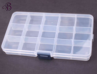 Wholesale Jewelry grid x6 x2 cm Bead Organizer Box Storage Container Case