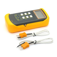 Wholesale Freeshipping K Type Digital Thermocouple Thermometer Channal sensors probe for BGA rework HVAC C F