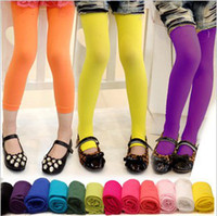 Girl color pantyhose - Hot Sale Children Candy Color Pantyhose Stockings Tights Leggings Girls Velvet Dance Pants