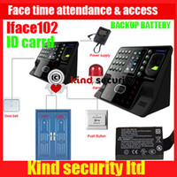 Wholesale Lowest price for Battery amp ID card function Zksoftware iFace102 Face and Fingerprint biometric time attendance access control Freeship by DHL