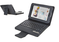 For Barnes Noble Nook HD 7  For Nook HD 7 Leather Black Detachable Wireless Bluetooth Keyboard Leather Case for Barnes Noble Nook HD 7 DHL Free Shipping