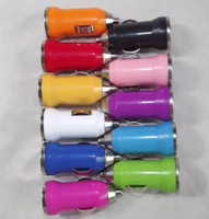 Car Chargers Universal No 11colors mini usb car charger for iPhone 5 3GS 4G 4S for iPod MP3 MP4 for HTC Samsung