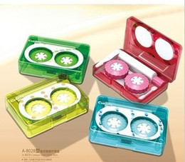 Wholesale contact lens case fashion tape lens case kit see good quality