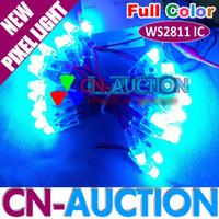 Wholesale FS RGB Full color mm LED Pixel Module WS2811 IC Pixel Node DC5V LED Exposed Light String IP68 CN LM20
