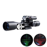 3-9X40 E rifle gun airso ft hunting Scope scopes w Red Laser Flash Torch