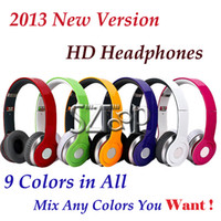 Wholesale 2013 Version High Definition Headphone Wired Noise Canceling Headset with Control Talk Factory Sealed Retail Hard Box Colors DHL