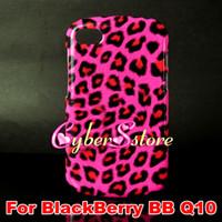 Wholesale 50pcs Fashion Leopard Hard Plastic Shell Case Cover For BlackBerry BB Q10