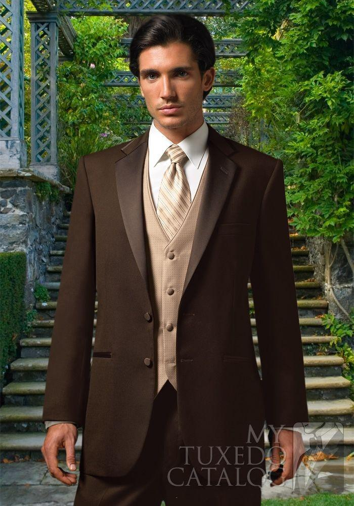 Cheap Groomsmen Suits Champagne Brown | Free Shipping Groomsmen