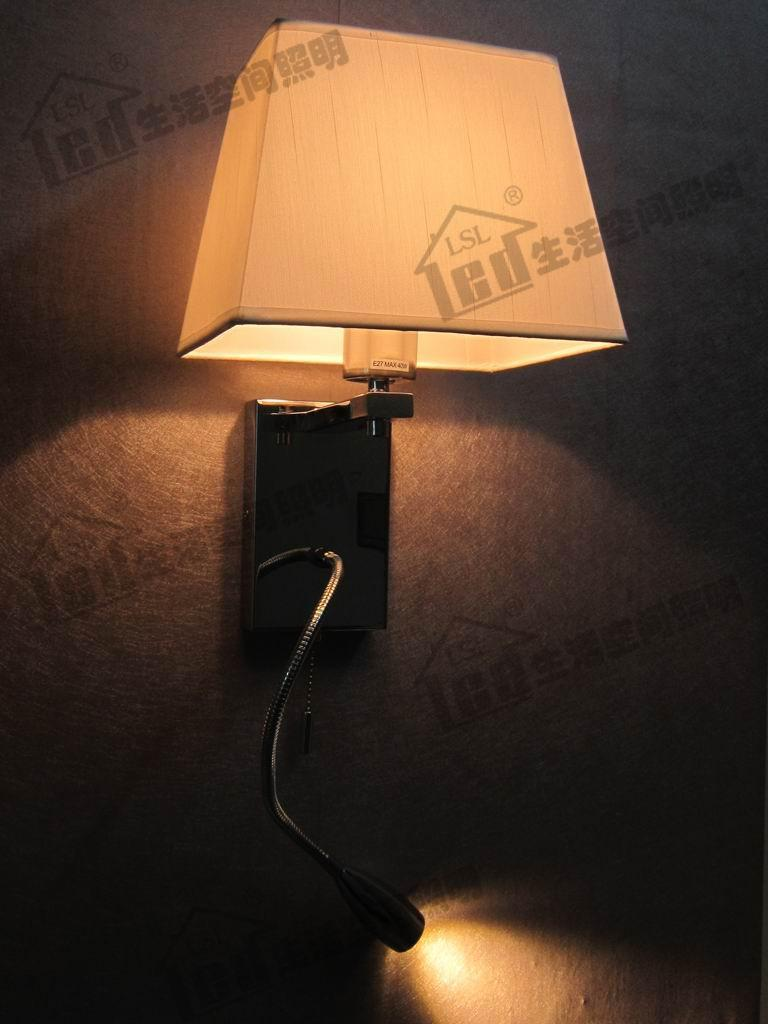 Best Bedside Wall Lamps : Bedside Reading Wall Lamps/4 Stages Switch Design/Color And Shape of Fabric Shades Optional/ 2 ...