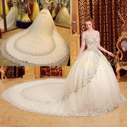 Ball Gown Wedding Dresses Bling Sleeves Online | Ball Gown Wedding ...
