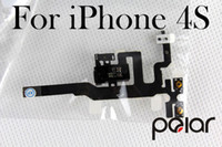 Wholesale OEM Black White Replacement Headphone Audio Jack Sensor Flex Cable Ribbon For iPhone S AF010