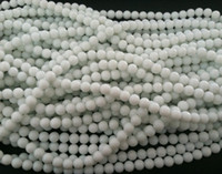 Wholesale DIY mm natural white agate immitation gemstone smooth Round loose Beads fit bracelet necklace