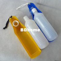 Wholesale Multifunction belt Gulpy Water Bottle Pet Travel hiking Bowl Dog cat dish