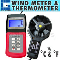 Wholesale AM V range Multi function Digital Thermo Anemometer Speed Air Wind Flow Temperature Velocity Beaufort Scale