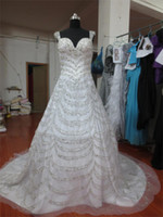 Model Pictures Sweetheart Lace-up Real Pictures Full BeadedLebanon Designer Wedding Dress 2013