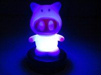 color changing night light - Color Change Lamp Night LED Sleep Light White Pig New Night Light
