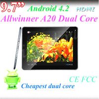 letine 9.7 inch Dual Core Cheap 9.7 Inch A20 Bluetooth Tablet HDMI dual core dual camera Supper Slim 1G 16G Tablet PC Android 4.2 1024*768 Capacitive screen tablet pc