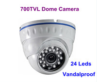 Wholesale 700TVL H Sony Effio E CCD CCTV Vandalproof Outdoor Leds IR Nightvision Dome Camera