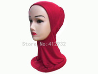 Wholesale Muslim Hijab Lady Inner Caps Colors Plain Solid Color Cotton Style E18